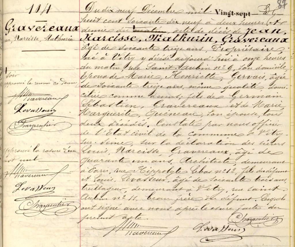 1879-12-19 GRAVEREAUX, Jean Narcisse Mathurin - Deces_wp