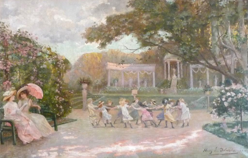 1911 Delacroix, Henry - La roseraie - GL001_wp